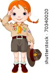 young  happy boy scout girl... | Shutterstock .eps vector #70340020
