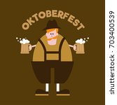 oktoberfest banner. man with... | Shutterstock .eps vector #703400539