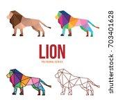 wild animal logo icon symbol... | Shutterstock .eps vector #703401628