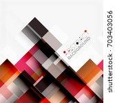 abstract vector blocks template ...   Shutterstock .eps vector #703403056