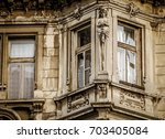 Detail of a building in Bratislava old town - stock photo