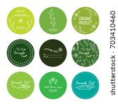 Vector Set Of Round Stickers ...
