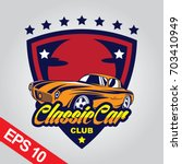 classic car logo template | Shutterstock .eps vector #703410949