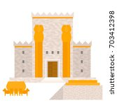 king solomon's temple  beit... | Shutterstock .eps vector #703412398