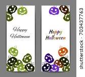 colorful illustration... | Shutterstock .eps vector #703437763