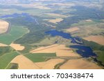 aerial view   western russia at ... | Shutterstock . vector #703438474