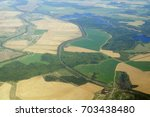 aerial view   western russia at ... | Shutterstock . vector #703438480