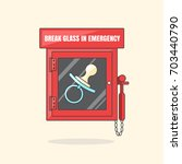 red emergency box with in case... | Shutterstock . vector #703440790
