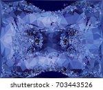geometric low polygonal... | Shutterstock .eps vector #703443526