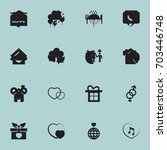 set of 16 editable amour icons. ... | Shutterstock .eps vector #703446748
