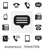 set of 12 editable phone icons. ...