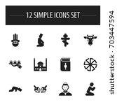 set of 12 editable religion...