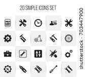 set of 20 editable repair icons....