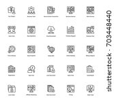 business and finance line icons ... | Shutterstock .eps vector #703448440