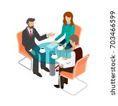 business concept flat 3d... | Shutterstock .eps vector #703466599