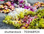 Hawaiian Leis On A Rock