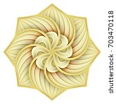 gold beautiful decorative... | Shutterstock .eps vector #703470118