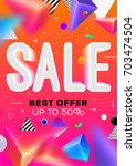 sale poster template   best... | Shutterstock .eps vector #703474504