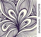 abstract handmade zen doodle... | Shutterstock .eps vector #703475998