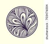 abstract handmade zen doodle
