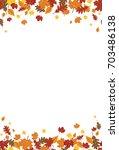 seamless bright fall autumn...   Shutterstock .eps vector #703486138