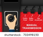 car vehicle manual transmission ... | Shutterstock .eps vector #703498150