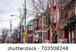 mile end neighborhood in... | Shutterstock . vector #703508248