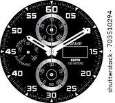 smart watch face h   Shutterstock .eps vector #703510294