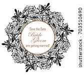 vintage delicate invitation... | Shutterstock .eps vector #703510690
