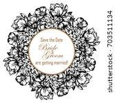 vintage delicate invitation... | Shutterstock .eps vector #703511134