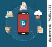 mobile security  data... | Shutterstock .eps vector #703511788