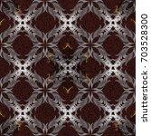 seamless golden pattern. golden ... | Shutterstock . vector #703528300