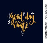 evening greeting. lettering...   Shutterstock .eps vector #703529620