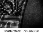 usa flag vintage background | Shutterstock . vector #703539310
