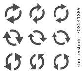 set of arrows. vector reload... | Shutterstock .eps vector #703541389