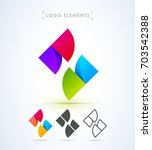 logo elements. vector abstract...