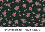 seamless folk pattern in small...   Shutterstock . vector #703543078