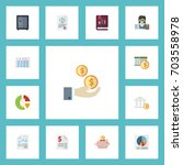 flat icons stock  bank ... | Shutterstock .eps vector #703558978