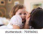 young mother with a little... | Shutterstock . vector #70356061