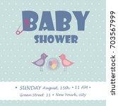 baby shower for newborn...   Shutterstock .eps vector #703567999