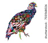 bird condor decorated with... | Shutterstock .eps vector #703568026