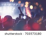 Silhouettes Of Festival Concer...