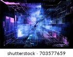 hi tech laser technology... | Shutterstock . vector #703577659