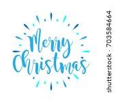 merry christmas   fireworks ... | Shutterstock .eps vector #703584664