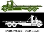 tow truck vector | Shutterstock .eps vector #70358668