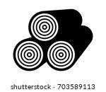 stack of timber   lumber wood... | Shutterstock .eps vector #703589113