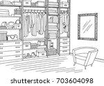 wardrobe room graphic black...