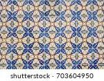 traditional portuguese tile... | Shutterstock . vector #703604950