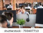 Call Center Worker Accompanied...