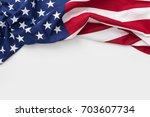 american flag for memorial day  ... | Shutterstock . vector #703607734